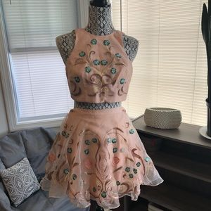 Two piece floral sequin dress! From Bebe!!